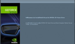 Nvidia 3D Vision Treiber CD Installation