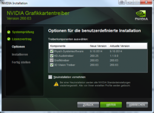 Nvidia Geforce Treiber 260