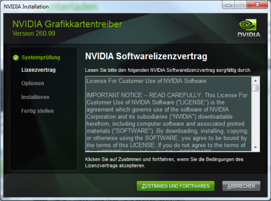 Nvidia Geforce Treiber 260.99