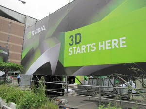 NVIDIA 3D Experience - Outdoor Sign Groß